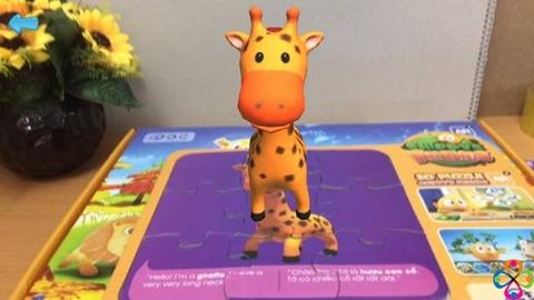 Bộ tranh ghép 3D Chippy's Friends - Hình ảnh chi tiết các con vật khi nhìn dưới dạng 3D