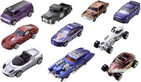 Hot Wheels Bộ 10 siêu xe 54886 - Các xe có trong set sản phẩm này