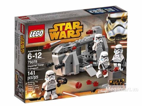 Vỏ hộp đồ chơi Lego Star Wars 75078 - Xe vận chuyển quân đội Hoàng gia