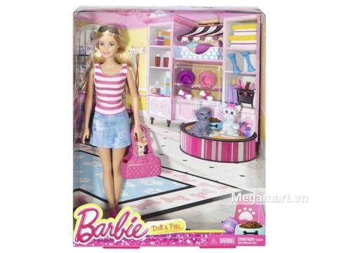 Barbie Bộ quà tặng Barbie và Thú cưng với vỏ hộp và đóng gói chắc chắn
