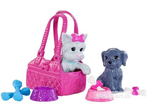 Với đồ chơi Barbie Bộ quà tặng Barbie và Thú cưng, bé sẽ có thêm thật nhiều người bạn