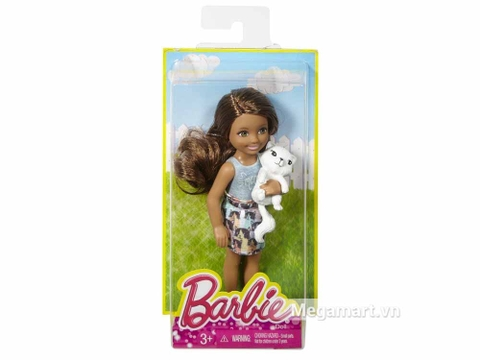 Hộp đựng bộ đồ chơi Barbie Chelsea và mèo con