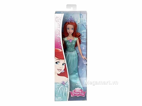 Thiết kế vỏ hộp bên ngoài bộ Barbie Công chúa Disney - Ariel