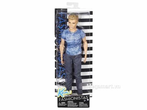 Barbie Fashionistas Ken - Áo Denim xanh - Vỏ hộp sản phẩm