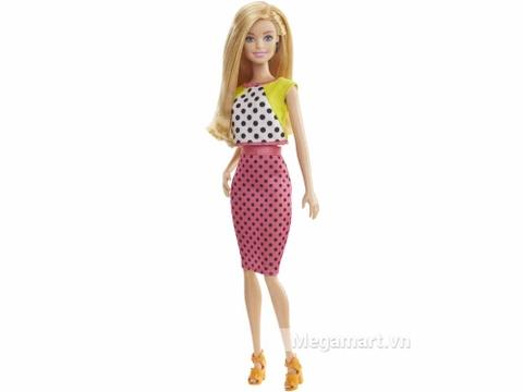 Barbie Fashionistas - Váy áo chấm bi - mô hình nhân vật trực diện