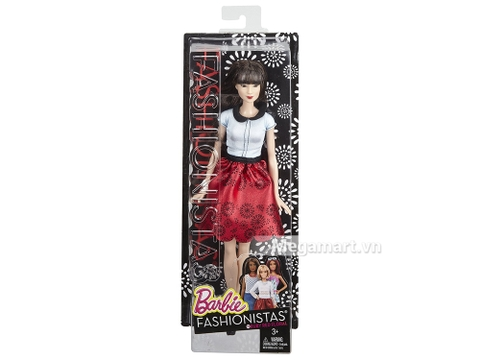 Barbie Fashionistas - Váy đỏ Ruby chính hãng - vỏ ngài sản phẩm