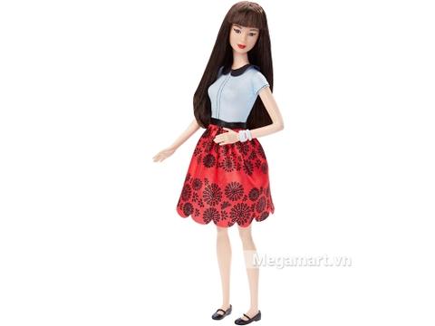 Barbie Fashionistas - Váy đỏ Ruby xinh đẹp phong cách ăn mặc đơn giản