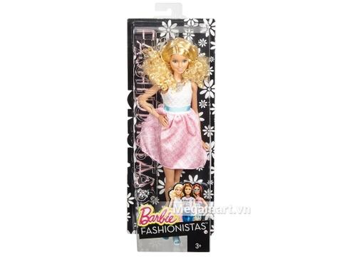 Barbie Fashionistas - Váy hồng phấn với vỏ hộp và đóng gói chắc chắn