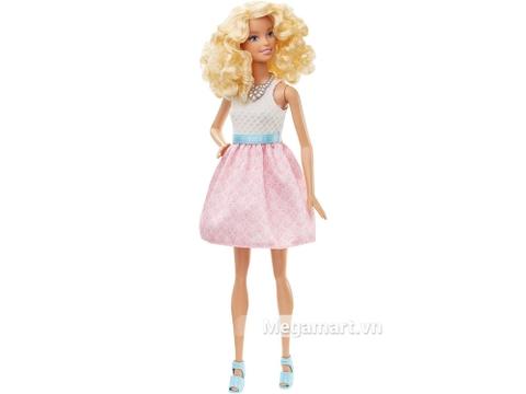 Barbie Fashionistas - Váy hồng phấn gồm nhiều chi tiết đẹp