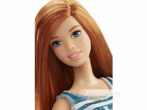Barbie Fashionistas - Váy Team Glam -  gương mặt búp bê