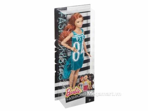 Barbie Fashionistas - Váy Team Glam - Ảnh vỏ hộp sản phẩm