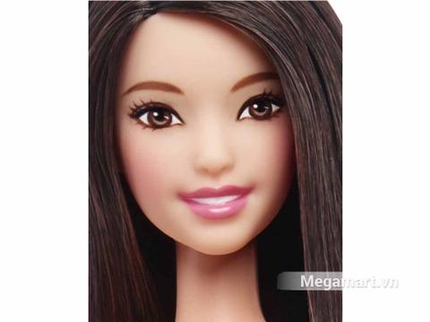 Barbie Fashionistas Váy trắng Áo hồng - Cao - khuôn mặt hiền hậu