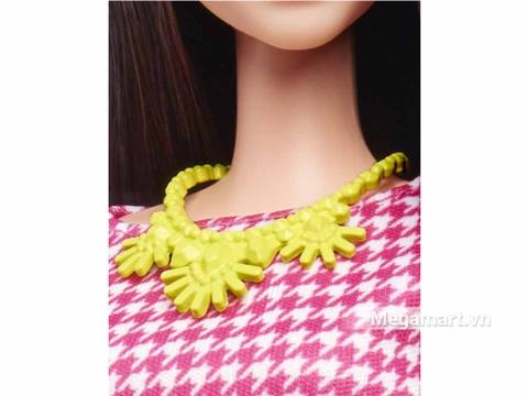 Barbie Fashionistas Váy trắng Áo hồng - Cao - chi tiết vòng cổ
