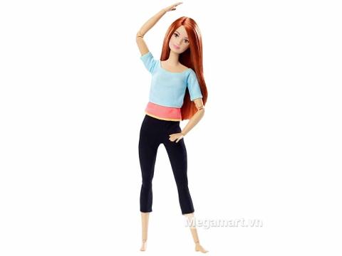 Barbie Made To Move - Áo blue nhạt - Vỏ hộp của sản phẩm