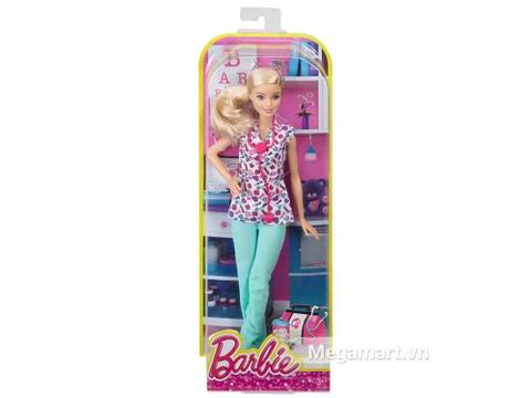 Bộ đồ chơi Barbie nghề nghiệp - Y tá giúp bé thỏa ước mơ