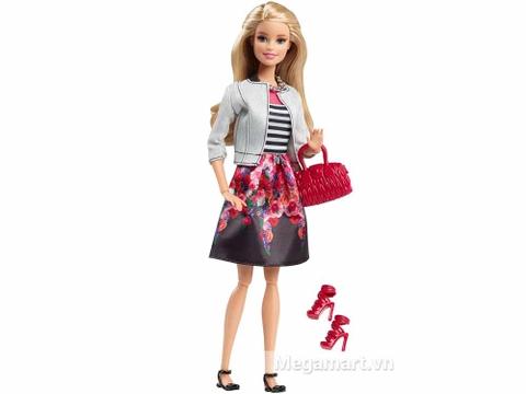 Barbie Style - Áo sọc váy hoa gồm nhiều chi tiết đẹp