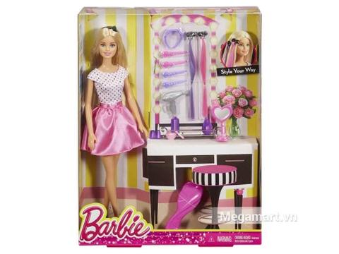 Barbie Thời trang tóc và phụ kiện với vỏ hộp và đóng gói chắc chắn