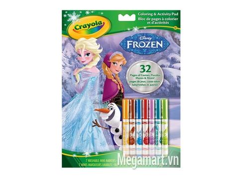 Túi đựng bộ Crayola Bộ bút giấy tô màu 32 trang và 7 bút lông mini