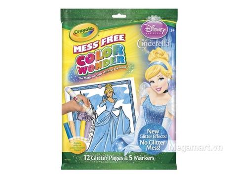 Thiết kế ấn tượng của với Crayola Bộ bút giấy tô màu Color Wonder hình công chúa Disney