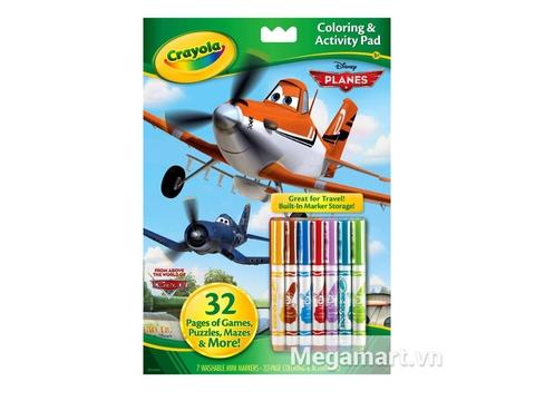 Hình ảnh vỏ ngoài của Crayola Bộ bút giấy tô màu hình máy bay