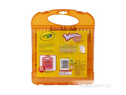 Crayola Bộ bút lông tô màu chì dạng vặn kèm giấy đồ chơi an toàn cao cấp