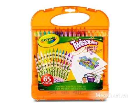 Crayola Bộ bút lông tô màu chì dạng vặn kèm giấy cho bé tha hồ tô vẽ