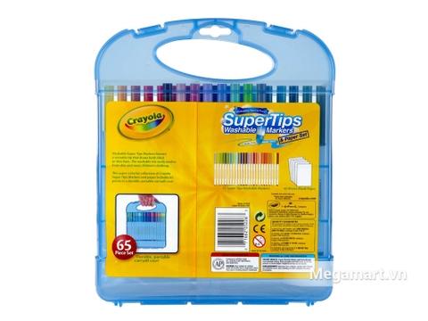 Hình ảnh vỏ ngoài của Crayola Bộ bút lông tô màu Supertips 25 bút lông và 40  tờ giấy tô màu