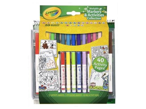 Vỏ hộp Crayola Bộ bút lông và giấy tô màu
