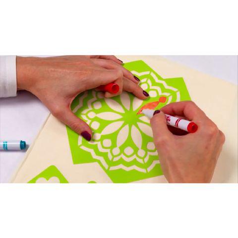 Crayola Bộ dụng cụ trang trí quần áo - hình vẽ chất liệu an toàn