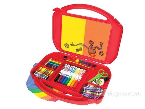 Thiết kế ấn tượng của Crayola Bộ dụng cụ vẽ 85 món màu đỏ
