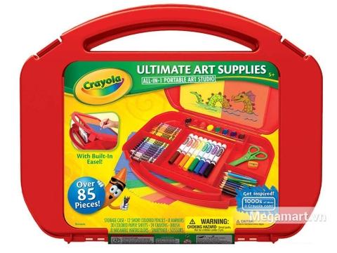 Hình ảnh vỏ hộp bộ Crayola Bộ dụng cụ vẽ 85 món màu đỏ