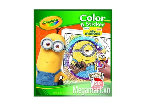Hộp đựng Crayola Bộ giấy tô màu và hình dán Minions