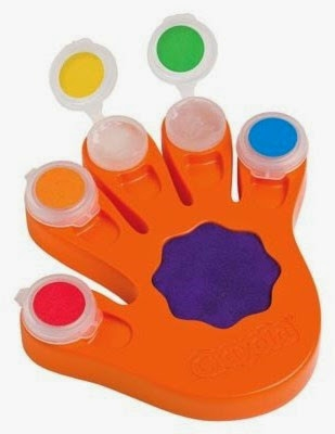 Crayola Bộ màu vẽ bằng tay với 5 ô màu trong suốt độc đáo