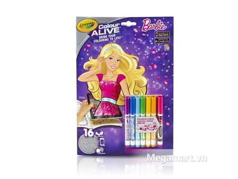 Hộp đựng Crayola Bộ tô màu thần kỳ Barbie