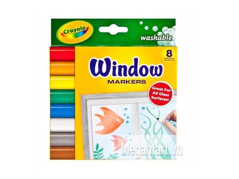 Hộp đựng Crayola Bút lông 8 màu vẽ được lên mặt kính - tẩy rửa được