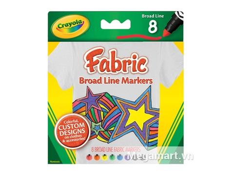 Vỏ ngoài bộ Crayola Bút lông 8 màu vẽ lên vải