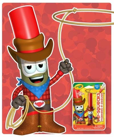 Crayola Bút lông hình nhân vật - Cao bồi Red Rock cho bé thỏa sức sáng tạo