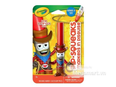 Hộp đựng bộ Crayola Bút lông hình nhân vật - Cao bồi Red Rock