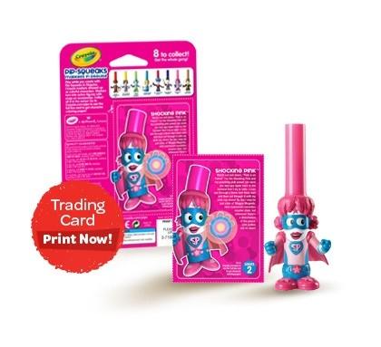 Crayola Bút lông hình nhân vật - Siêu nhân Pink dễ thương
