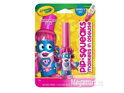 Hình ảnh vỏ ngoài của Crayola Bút lông hình nhân vật - Siêu nhân Pink