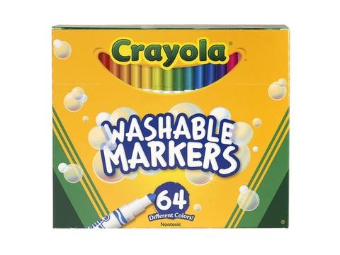Vỏ hộp Crayola Bút lông mini 64 màu
