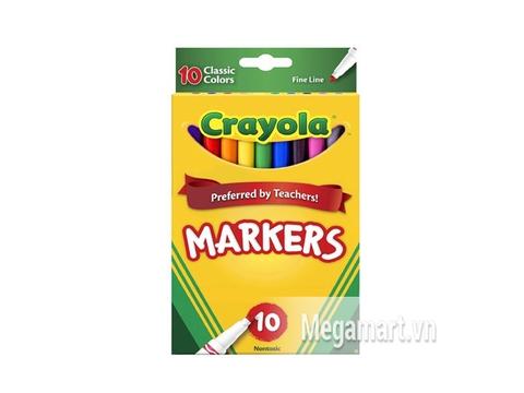 Hình ảnh vỏ ngoài của Crayola Bút lông nét mảnh 10 màu