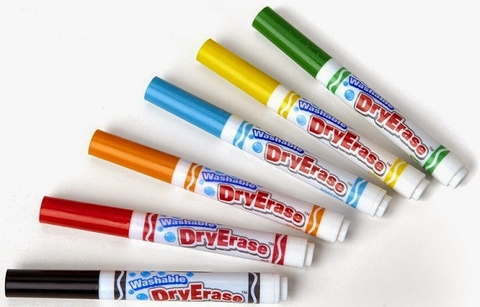 Crayola Bút lông viết bảng 6 màu - tẩy rửa được phát triển tư duy cho bé