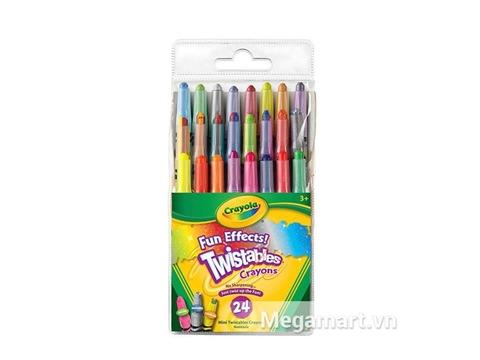 Hộp đựng bộ Crayola Bút sáp 24 màu ánh nhũ