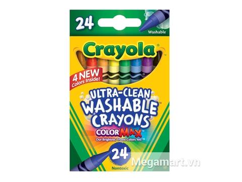 Vỏ hộp đựng bộ Crayola Bút sáp 24 màu tẩy rửa được