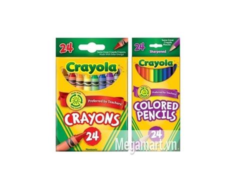 Hộp Crayola Bút sáp 24 màu và Bút chì 24 màu