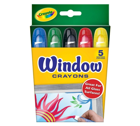Thiết kế ấn tượng của Crayola Bút sáp 5 màu viết được lên bề mặt kính