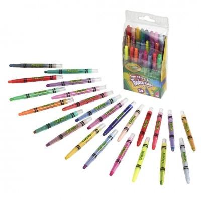 Crayola Bút sáp dạng vặn 24 màu loại nhỏ độc đáo