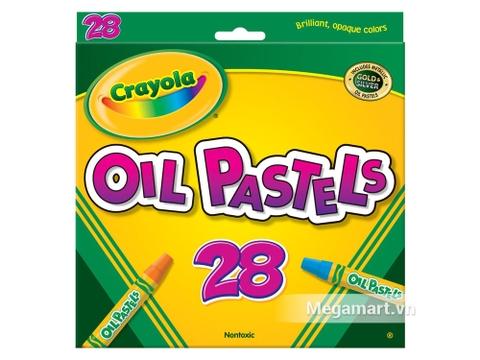 Hộp đựng Crayola Bút sáp dầu 28 màu