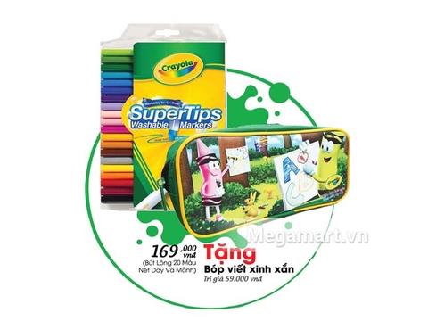Đồ chơi Crayola Combo Bút lông 20 màu và bóp viết Crayola